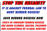 SAVE a RUBBER DUCKIE Today!